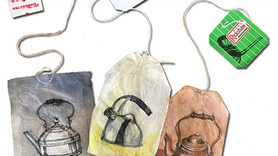 Saquetas de chá que são verdadeiras obras de arte