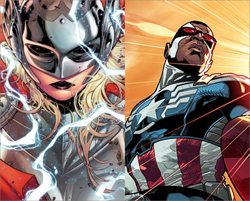 Marvel altera o sexo a Thor e cria Capitão América negro