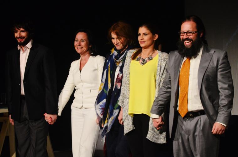 André Nunes, Sofia Nicholson, Alda Gomes, Inês Patrício e Quimbé