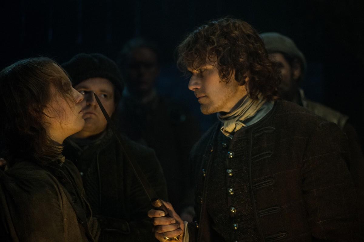 Oscar-Kennedy-as-William-Grey-Sam-Heughan-as-Jamie-Fraser-Episode-209
