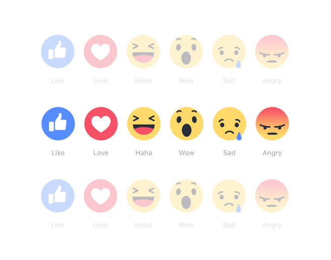 Reações no Facebook