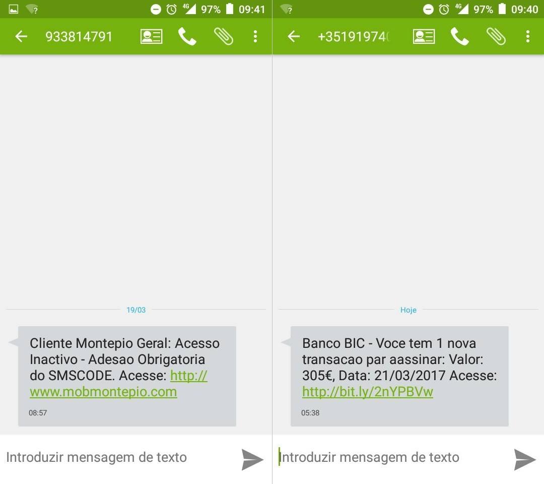 phishing por sms