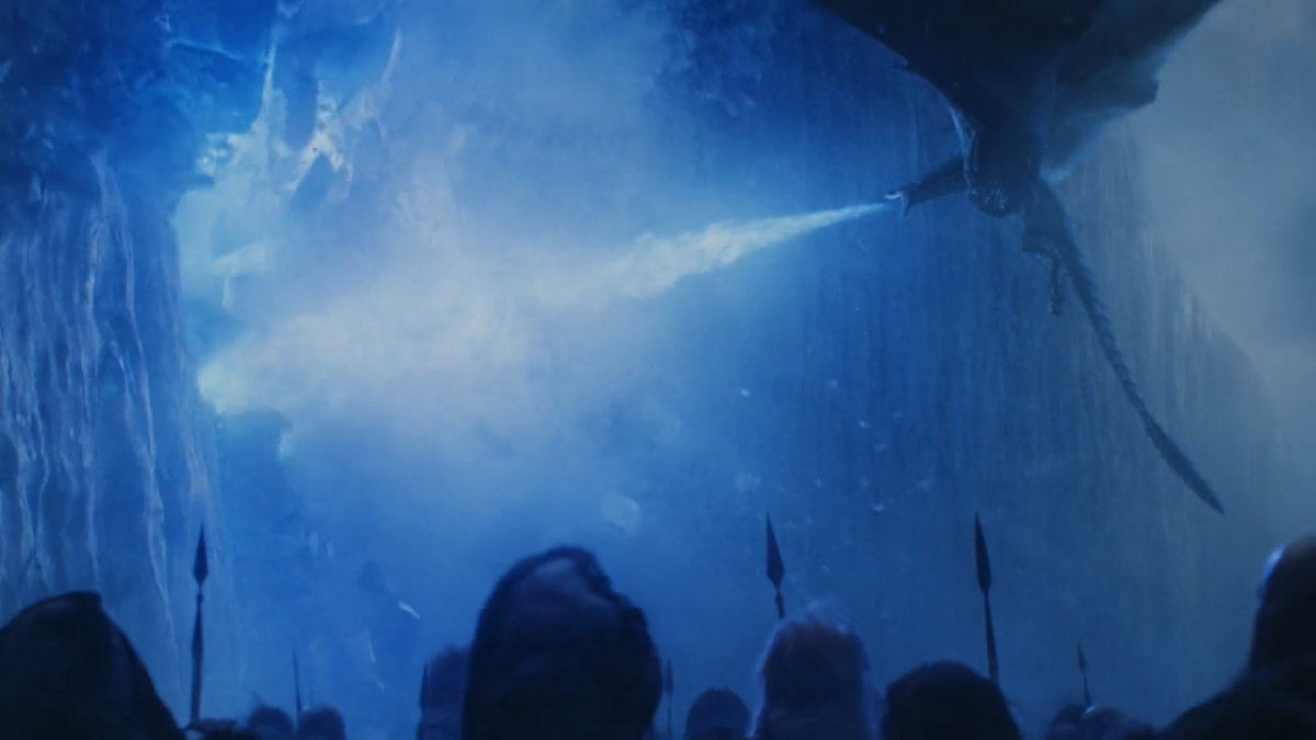 Game of Thrones; Night King destroys the Wall