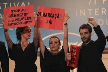 João Salaviza protesta