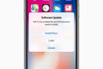 Mensagem de update iOS 11.4 no iPhone X