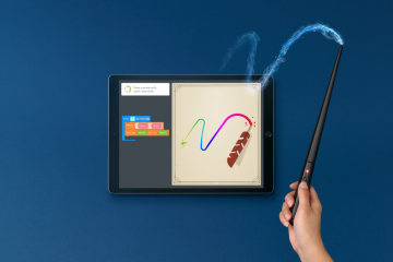 Programa de desenho no Kano Coding Kit de Harry Potter