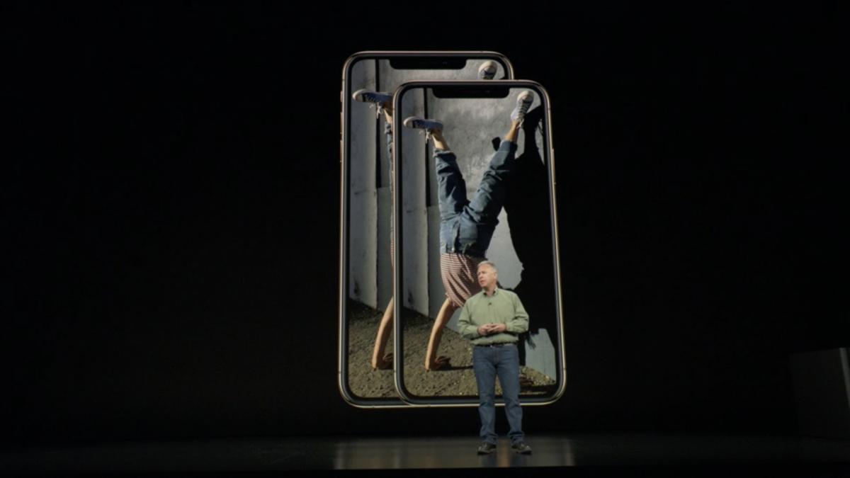 iPhone XS e XS Max no evento de apresentação Apple