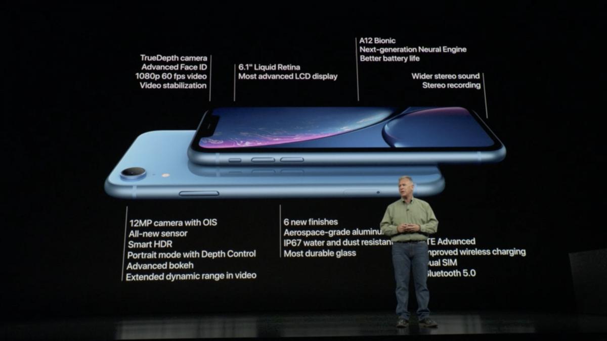 iPhone XR no evento de apresentação