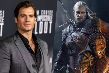 Henry Cavill e Geralt of Rivia da série The Witcher