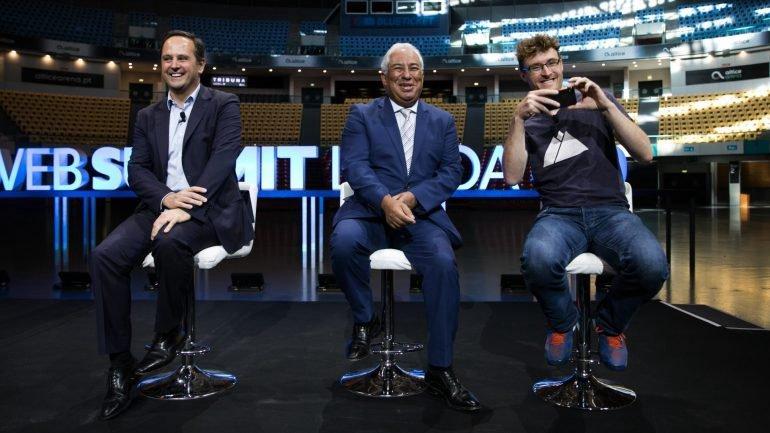 Web Summit - Fernando Medina, António Costa, Paddy Cosgrave