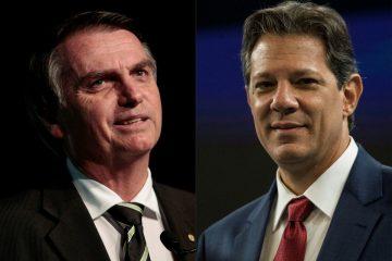 Eleições Jair Bolsonaro e Fernando Haddad