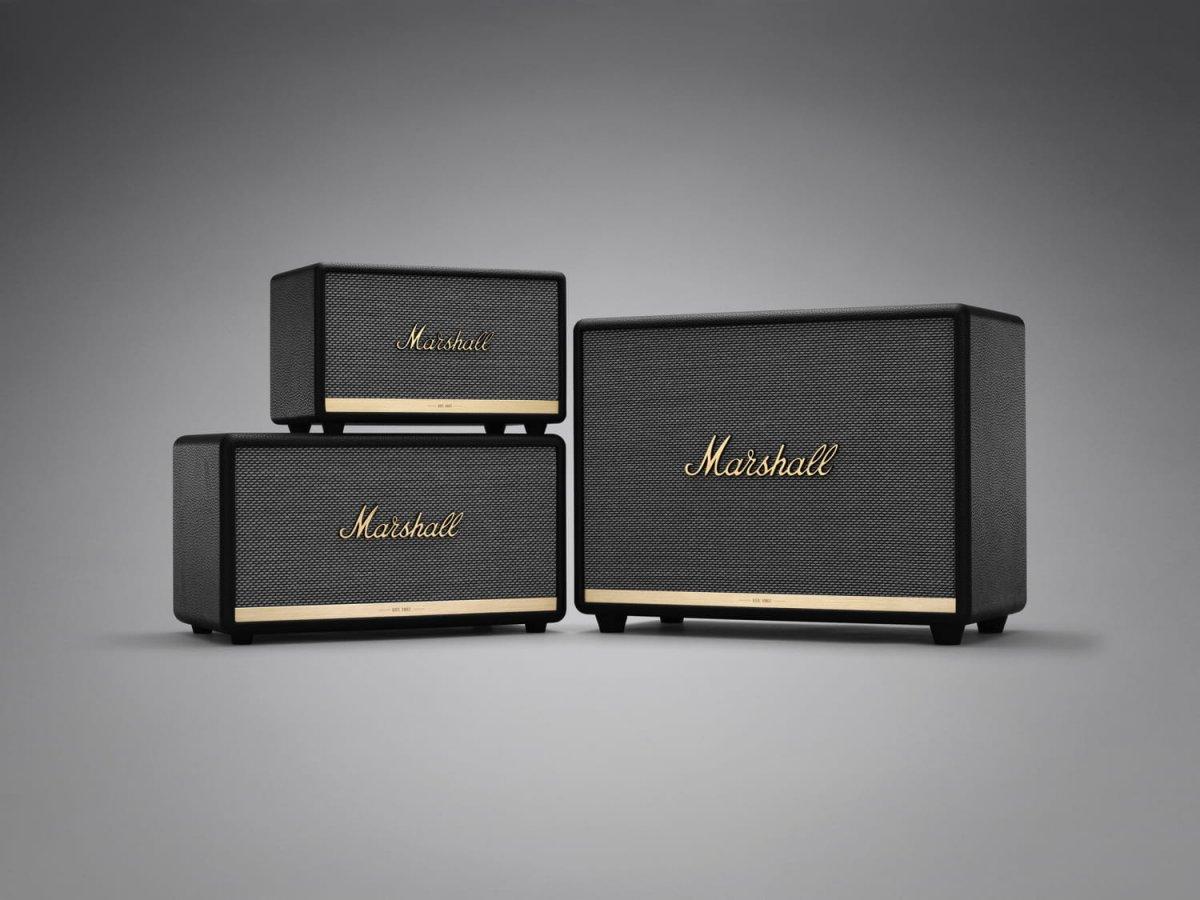 Familia de altifalantes Marshall
