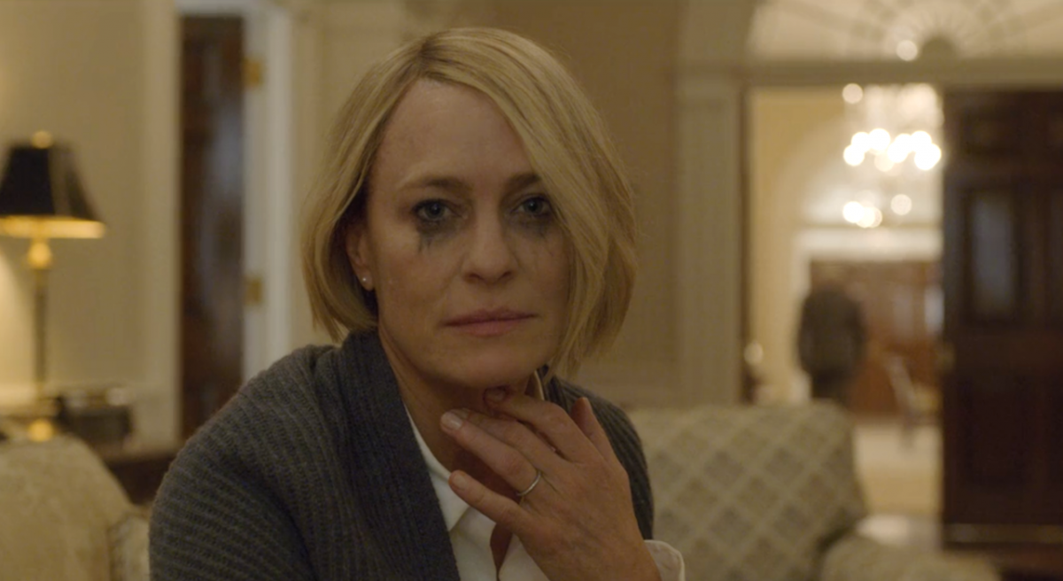 Claire Underwood crying
