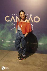 Mariana Bragada na conferência de imprensa do Festival da Canção 2019