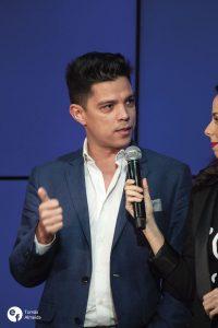 Vasco Palmeirim, apresentador, na conferência de imprensa do Festival da Canção 2019