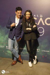 Filomena Cautela e Vasco Palmeirim com ar alegre na conferência de imprensa do Festival da Canção 2019