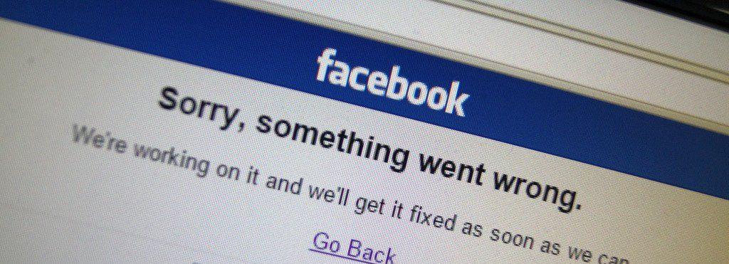 facebook em baixo