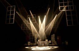 teatro, iluminação, palco