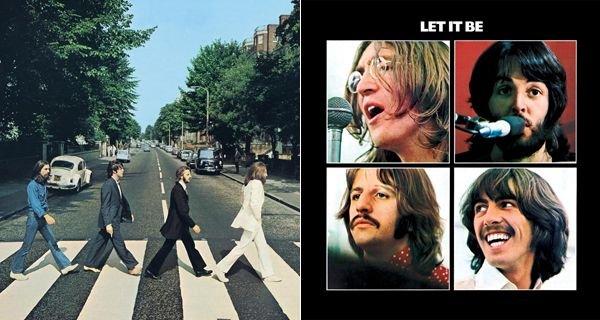 Abbey Road e Let It Be, The Beatles (album covers)