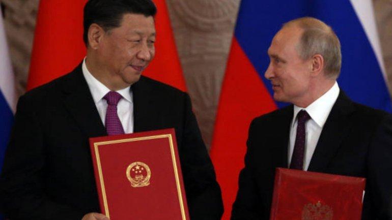 Presidente da Rússia e Presidente da Huawei