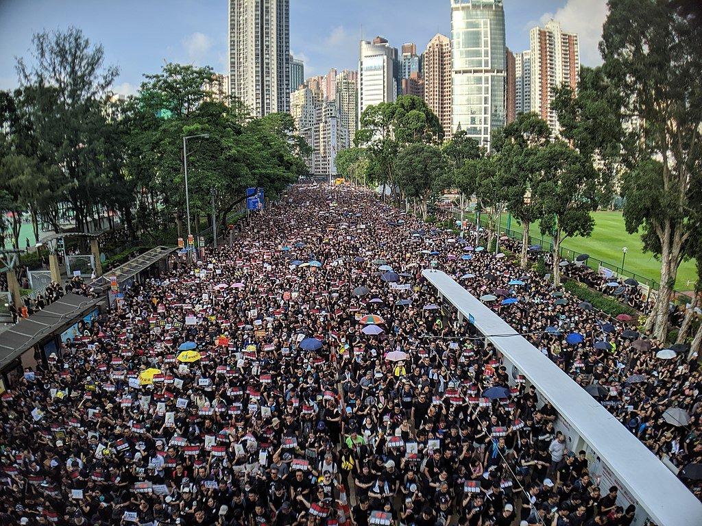 Protestos em Hong Kong em junho de 2019