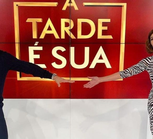 Cláudio Ramos e Fátima Lopes em A Tarde é Sua