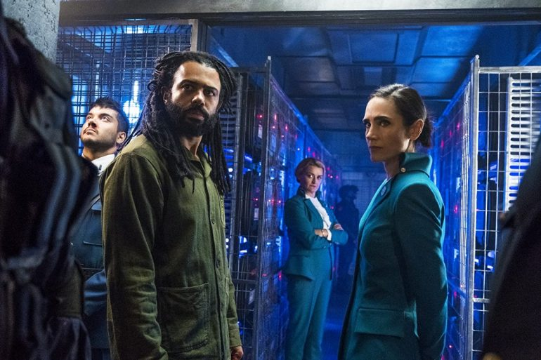 Jennifer Connelly, Alison Wright, e Daveed Diggs em Snowpiercer