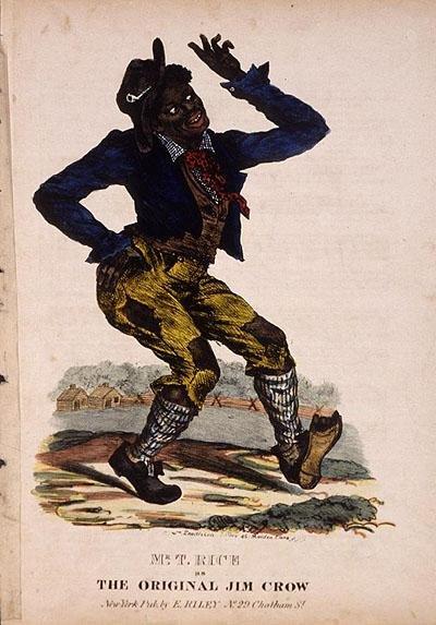 Capa do Jump Jim Crow, interpretado por Thomas D. Rice