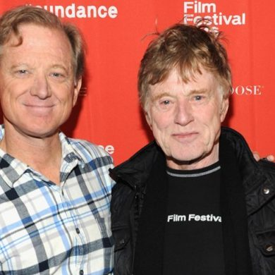 James Redford com o pai Robert Redford