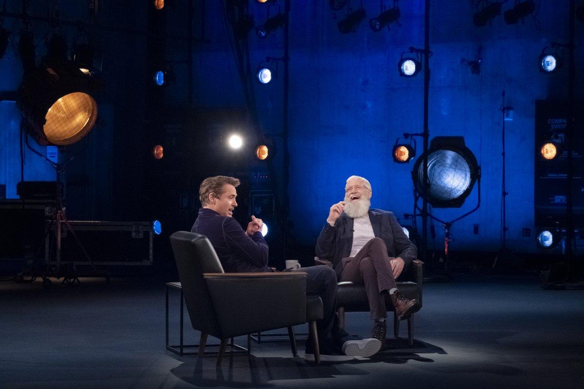 Robert Downey Jr. O Próximo Convidado Dispensa Apresentações com David Letterman