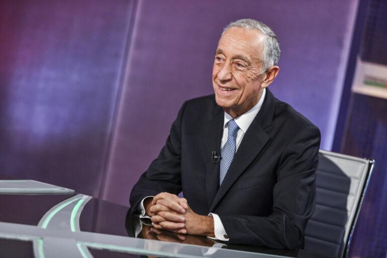 Marcelo Rebelo de Sousa no debate contra Marisa Matias