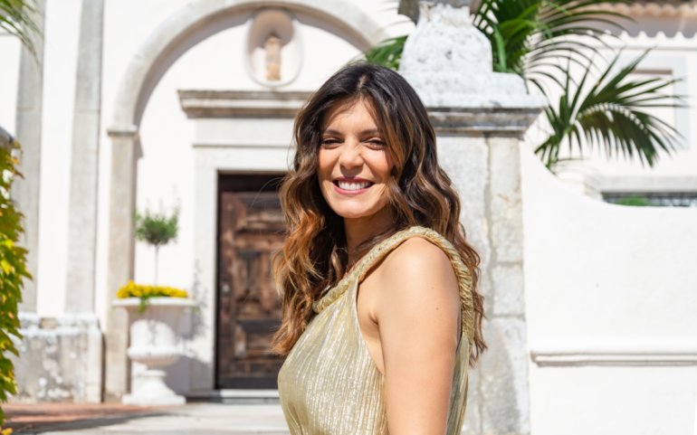 Andreia Rodrigues durante as filmagens de 'Quem Quer Namorar com o Agricultor?'
