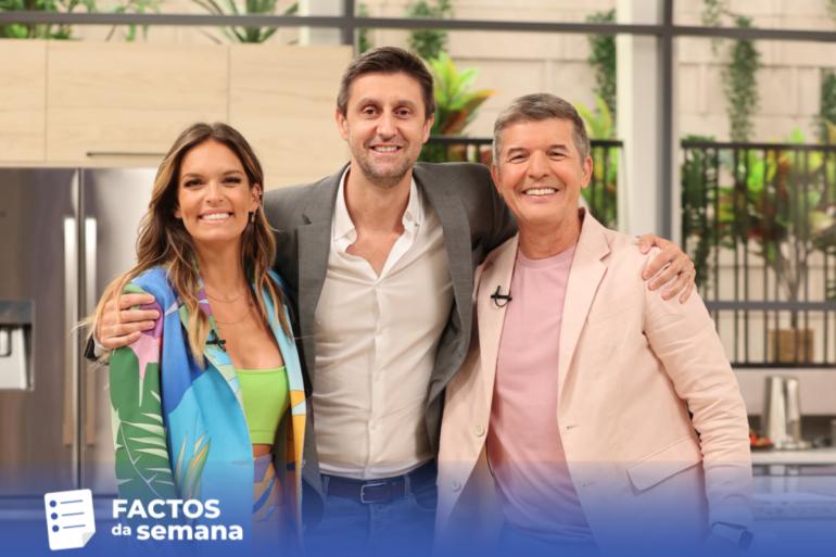 Diana Chaves, Daniel Oliveira e João Baião da SIC