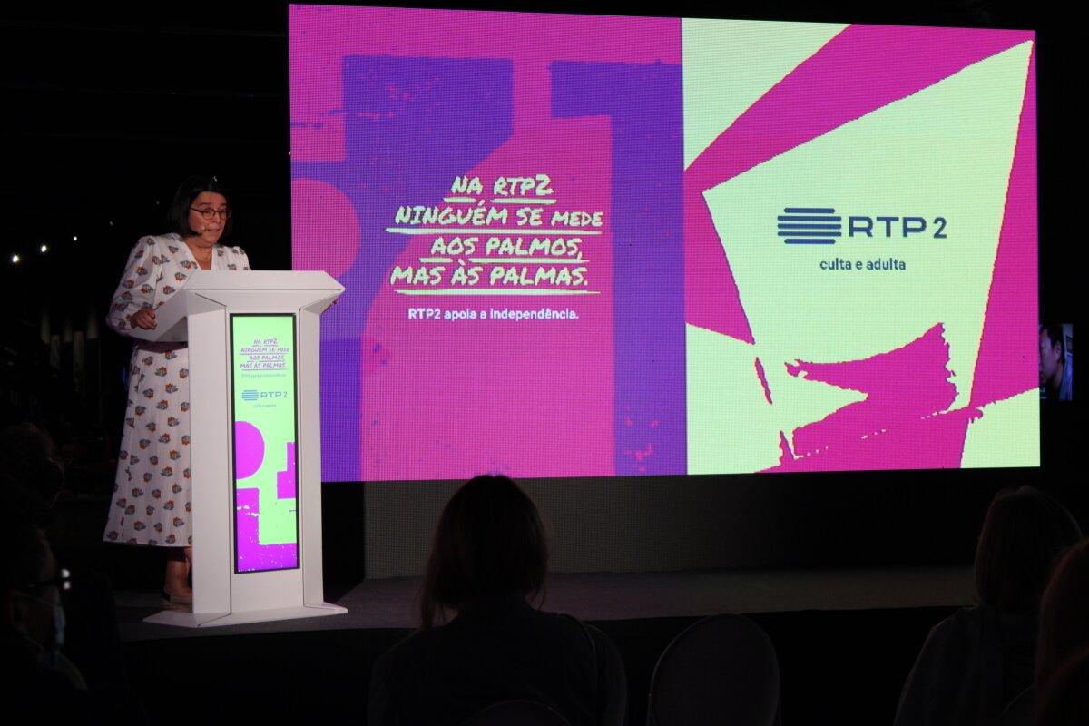 Teresa Paixão apresenta nova grelha da RTP2. Fotografia: Espalha-Factos